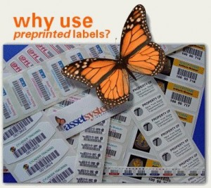 why use preprinted labels in asset management